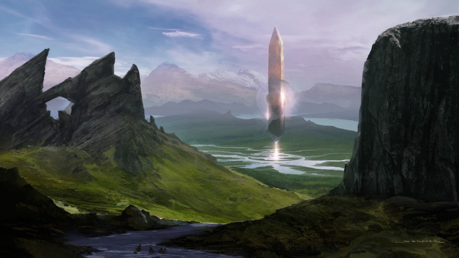 Obelisk of the Water God by Kieran Yanner, © Monte Cook Games